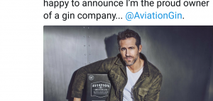So I guess Ryan Reynolds just became the owner of Aviation Gin (2 Pictures)
