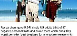 Top 5 dating deal breakers