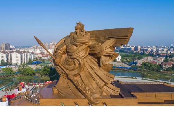 China Unveils Colossal Ton Sculpture Of Chinese God Of War - China unveils colossal 1320 ton god of war statue